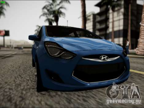 Hyundai ix20 для GTA San Andreas вид сзади