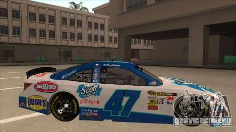 Toyota Camry NASCAR No. 47 Scott для GTA San Andreas вид сзади слева