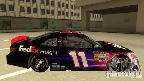 Toyota Camry NASCAR No. 11 FedEx Freight для GTA San Andreas вид сзади слева