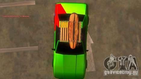 Elegy New Year for JDM для GTA San Andreas вид сверху