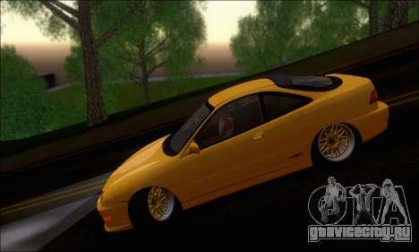 Honda Integra Type-R Hellaflush для GTA San Andreas вид сзади