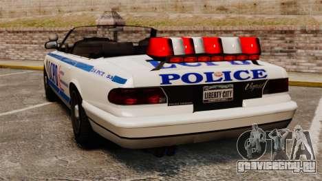 Кабриолет версия Police для GTA 4 вид сзади слева
