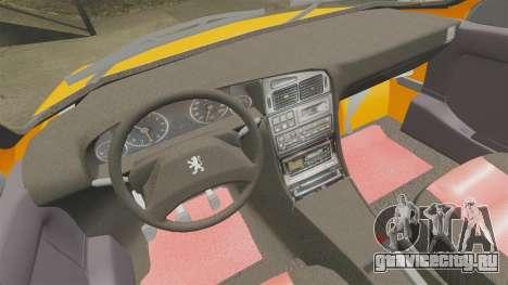Peugeot 405 GLX Taxi для GTA 4 вид сбоку