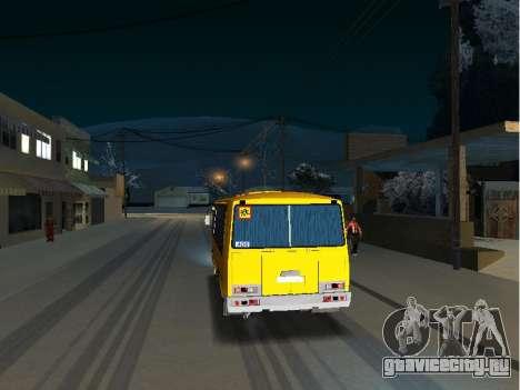 ПАЗ 32053-70 Школьный для GTA San Andreas вид справа