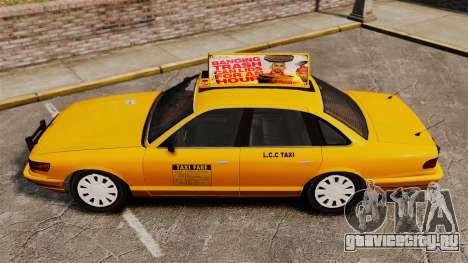 Taxi с новыми дисками v2 для GTA 4 вид сзади слева