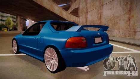 Honda CRX Del Sol для GTA San Andreas вид сзади