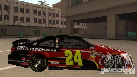 Chevrolet SS NASCAR No. 24 AARP для GTA San Andreas вид сзади слева