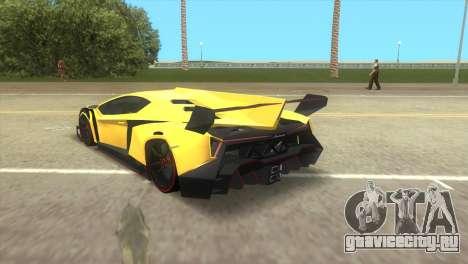 Lamborghini Veneno для GTA Vice City вид слева