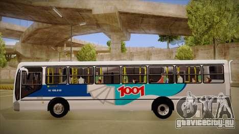 Busscar Urbanuss Pluss 2009 для GTA San Andreas вид сзади слева