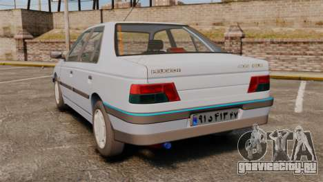 Peugeot 405 GLX Final для GTA 4 вид сзади слева