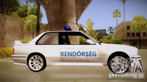 BMW M3 E30 Rendőrség для GTA San Andreas вид сзади слева