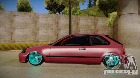 Honda Civic EK9 Drift Edition для GTA San Andreas вид сзади слева