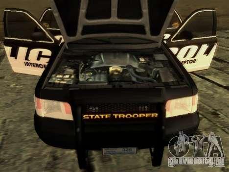 Ford Crown Victoria Police Interceptor для GTA San Andreas вид справа