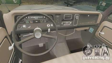 Chevrolet C-10 Stepside v2 для GTA 4 вид изнутри