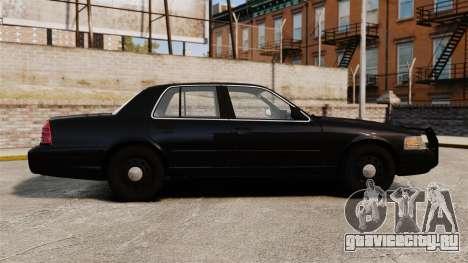 Ford Crown Victoria 2008 FBI для GTA 4 вид слева