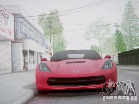 Chevrolet Corvette C7 Stingray 2014 для GTA San Andreas вид сзади