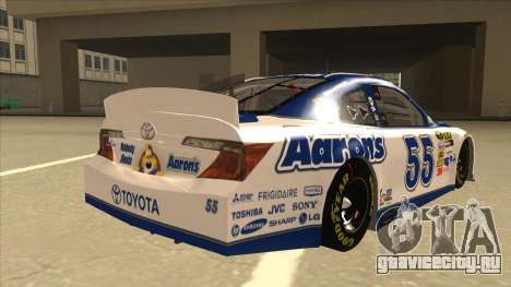 Toyota Camry NASCAR No. 55 Aarons DM white-blue для GTA San Andreas вид справа