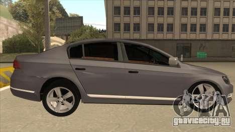 Volkswagen Passat 2.0 Turbo для GTA San Andreas вид сзади слева