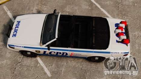 Кабриолет версия Police для GTA 4 вид справа