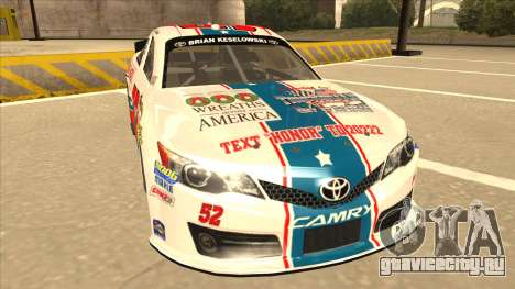 Toyota Camry NASCAR No. 52 TruckerFan для GTA San Andreas вид слева