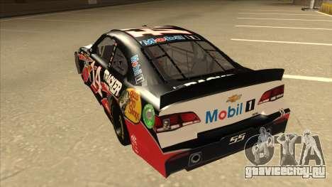 Chevrolet SS NASCAR No. 14 Mobil 1 Tracker Boats для GTA San Andreas вид сзади