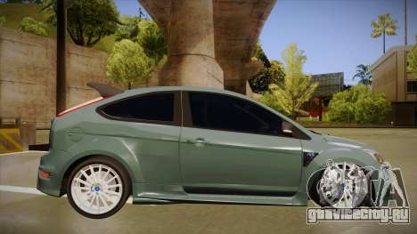 Ford Focus RS 2010 для GTA San Andreas вид сзади слева