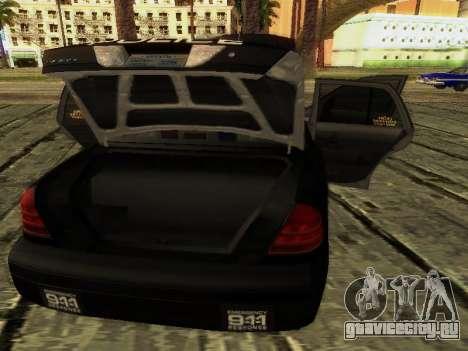 Ford Crown Victoria Police Interceptor для GTA San Andreas вид сверху