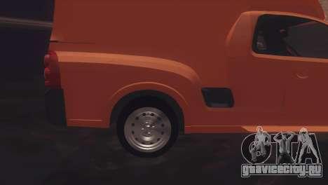 Chevrolet Montana Combo для GTA San Andreas вид сзади слева