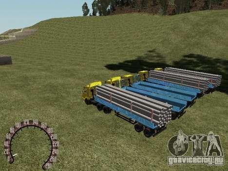 Прицеп Лесовоз для GTA San Andreas вид справа