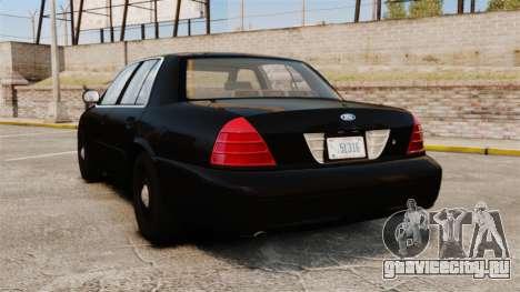 Ford Crown Victoria 2008 FBI для GTA 4 вид сзади слева