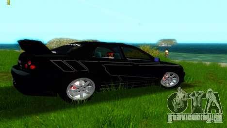 Subaru Impreza WRX v1.1 для GTA Vice City вид сзади