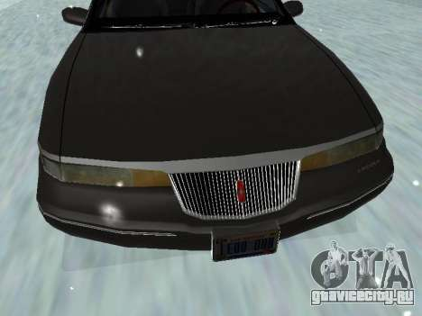 Lincoln Continental Mark VIII 1996 для GTA San Andreas вид снизу