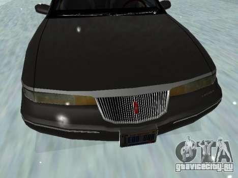 Lincoln Continental Mark VIII 1996 для GTA San Andreas вид снизу