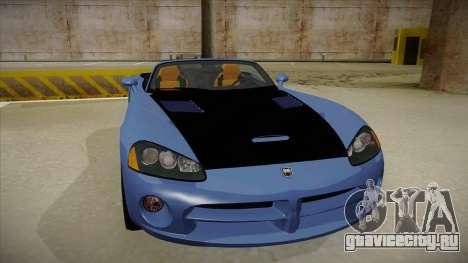 Dodge Viper v1 для GTA San Andreas вид слева