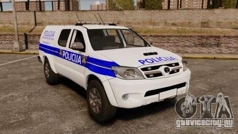Toyota Hilux Croatian Police v2.0 [ELS] для GTA 4