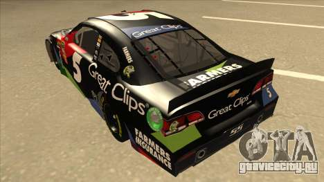 Chevrolet SS NASCAR No. 5 Great Clips для GTA San Andreas вид сзади