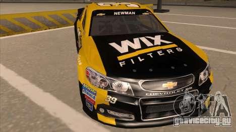 Chevrolet SS NASCAR No. 39  Wix Filters для GTA San Andreas вид слева