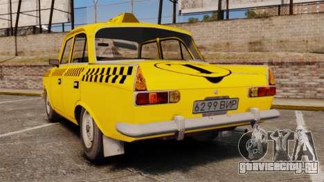 Москвич ИЖ-412 для GTA 4 вид сзади слева