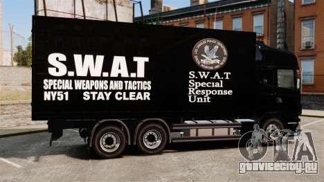 Новый грузовик SWAT для GTA 4 вид слева