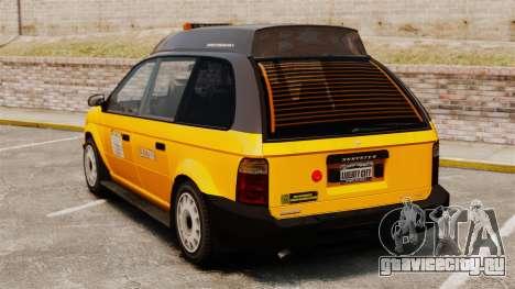 Улучшенное такси для GTA 4 вид сзади слева
