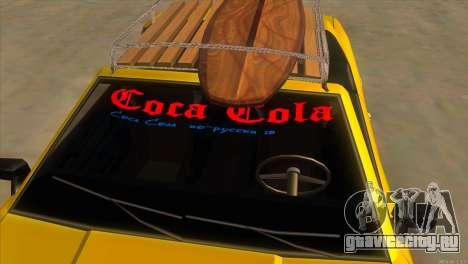 Elegy New Year for JDM для GTA San Andreas вид снизу