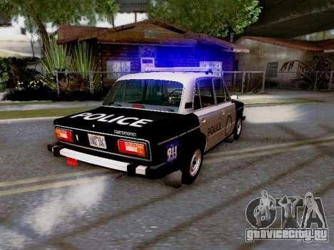 ВАЗ 2106 Полиция Лос Сантос для GTA San Andreas вид сверху