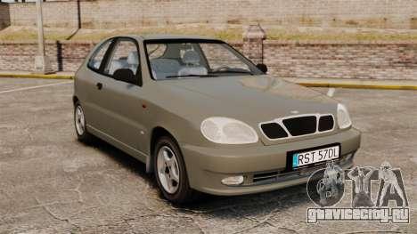 Daewoo Lanos 1997 PL для GTA 4