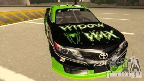 Toyota Camry NASCAR No. 30 Widow Wax для GTA San Andreas вид слева