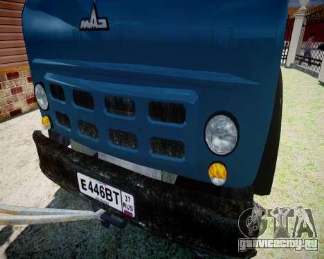 МАЗ 500 КС3577-4-5 Частник для GTA 4 вид сзади