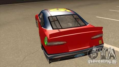 Ford Fusion NASCAR No. 95 для GTA San Andreas вид сзади