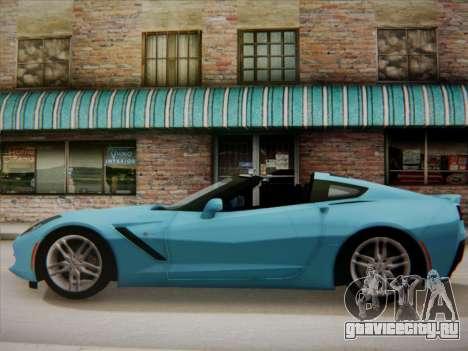 Chevrolet Corvette C7 Stingray 2014 для GTA San Andreas вид слева
