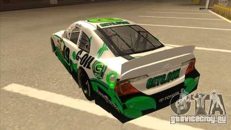 Toyota Camry NASCAR No. 19 G-Oil для GTA San Andreas вид сзади