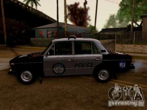 ВАЗ 2106 Полиция Лос Сантос для GTA San Andreas вид слева
