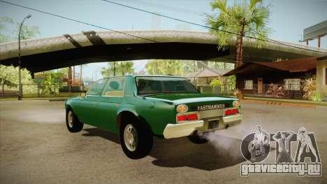 Fasthammer для GTA San Andreas вид сзади слева